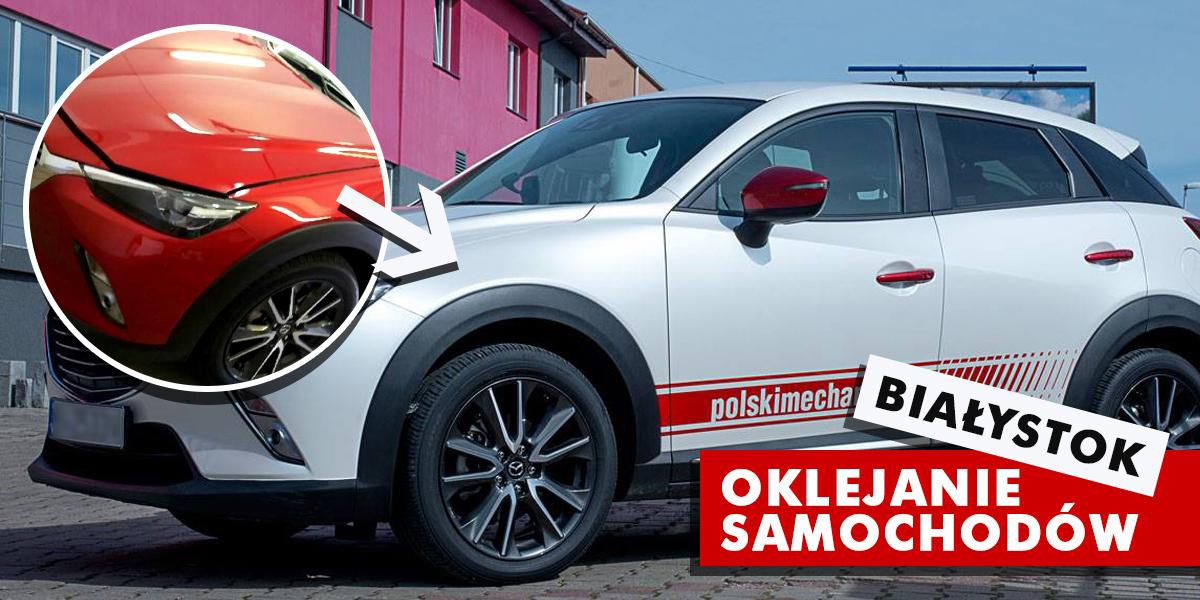 Oklejanie samochodów, aut w Białymstoku
