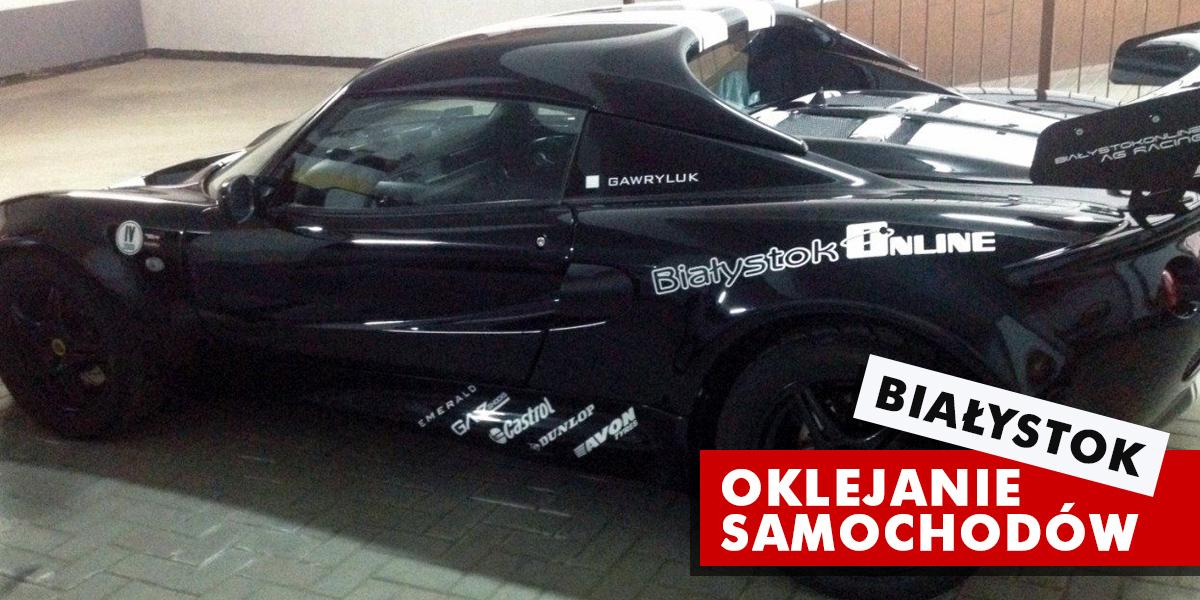 Oklejanie samochodów / aut Białystok